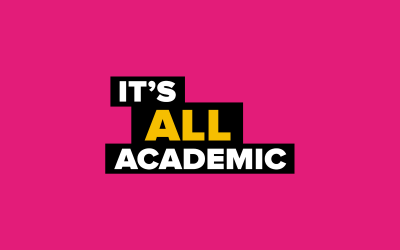 It's All Academic logo pink