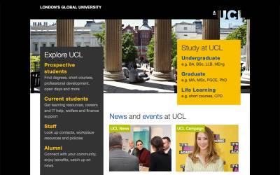 UCL Homepage screenshot