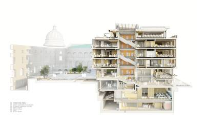 Cut-away artist's impression of the new Student Centre