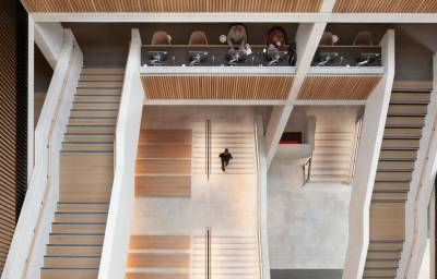 Student centre looking down over stairways