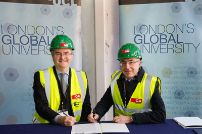 Jonathan Taylor, Vice President of the European Investment Bank and Professor Michael Arthur, UCL President & Provost
