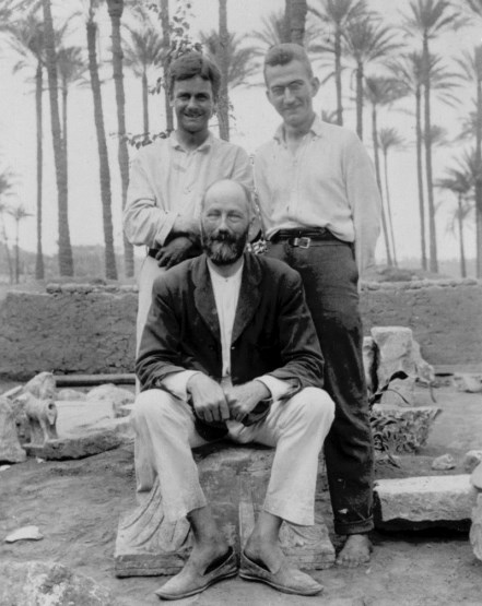 Team members Engelbach, Campion and Gunn. Photo from the Petrie Museum archive.