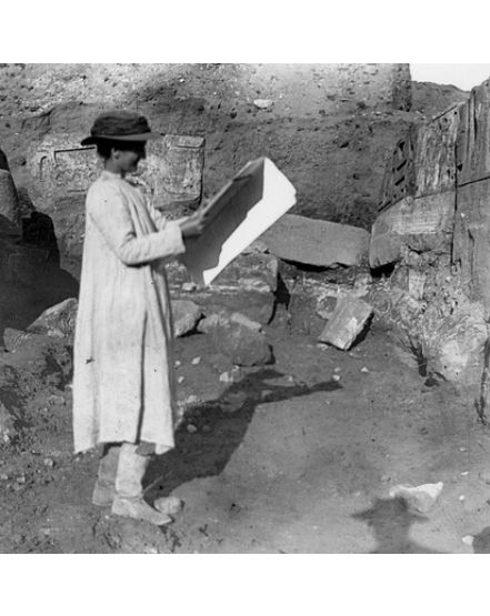 Hilda at Abydos. Photo courtesy of the Egypt Exploration Society.