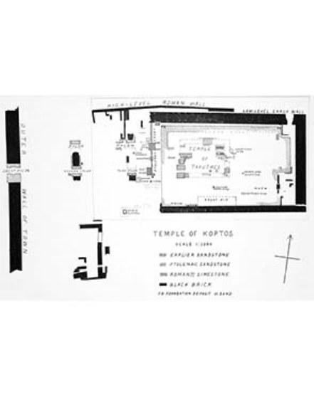 Plan of the temple of Min at Koptos. Petrie, Koptos, 1896: pl. I.