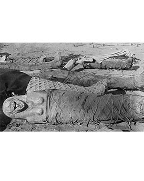 Mummies from Hawara. Copyright Petrie Museum of Egyptian Archaeology.
