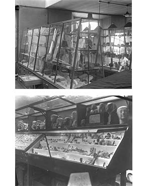 Views of the museum in 1915. Copyright Petrie Museum of Egyptian Archaeology