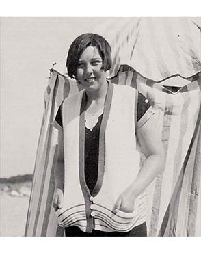 Margaret (Peggy) Drower aged 16 or 17, on a family holiday. Copyright the Drower estate.