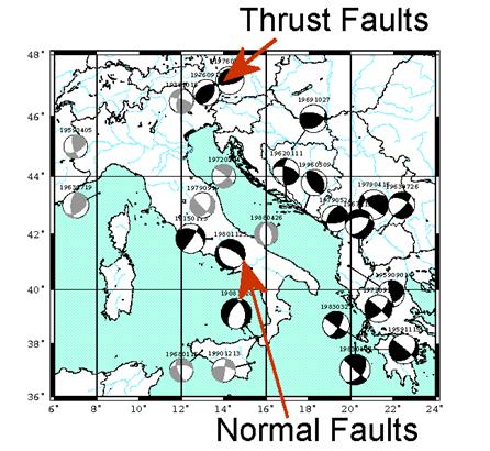 Subduction Zones - Benioff Zone with pattern of seismicity
