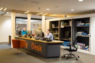 admissions desk
