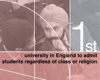 First university in England to admit students regardless of class or religion…