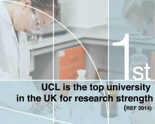 UCL was ranked number one for research strength in the Research Excellence Framework (REF) 2014…