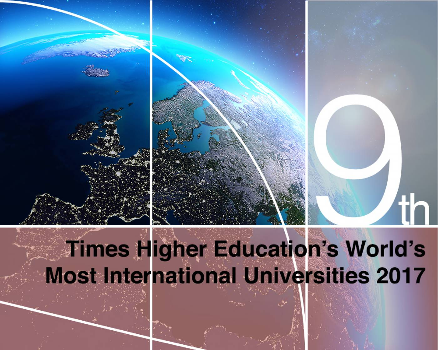 Ranked 9th in the Times Higher Education's World's Most International Universities 2017