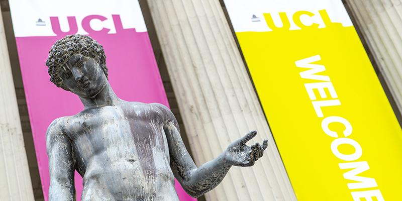 Statue at UCL Quad