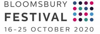 Bloomsbury festival logo: multicoloured dots arranged in a square