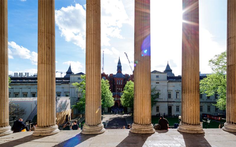 Pillars of the Wilkins Building
