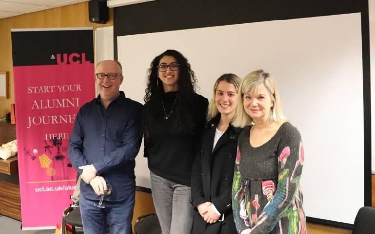 Harry Bradbeer and Chantal Rickards at UCL Student Media
