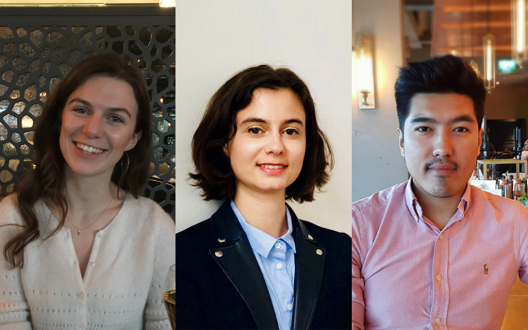 Three members of the UCL Recent Graduates Network