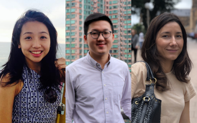The Hong Kong Recent Graduates Network leads: Natalie, Josh and Gokce