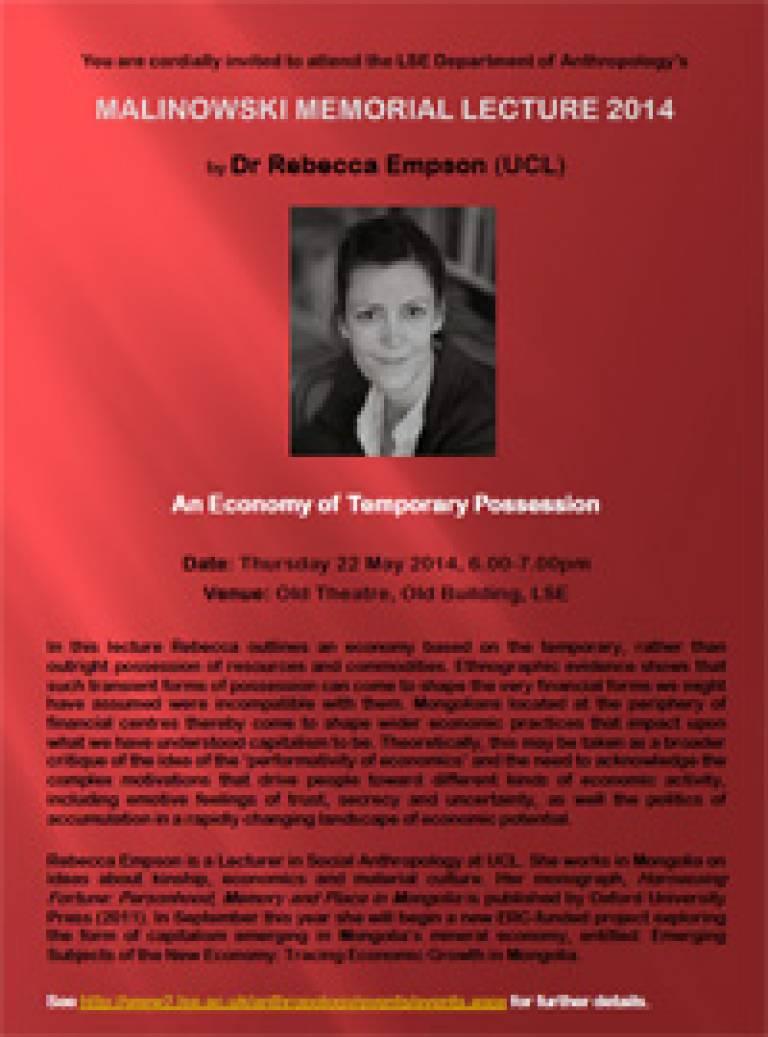 Malinowski Memorial Lecture