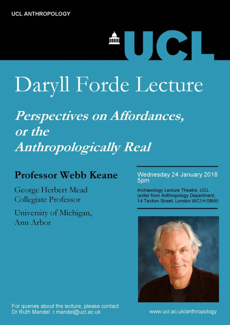 Daryll Forde Lecture