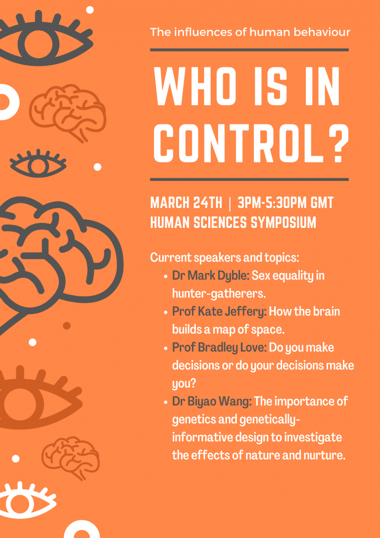 Who is in control? Human Sciences 2021 Symposium