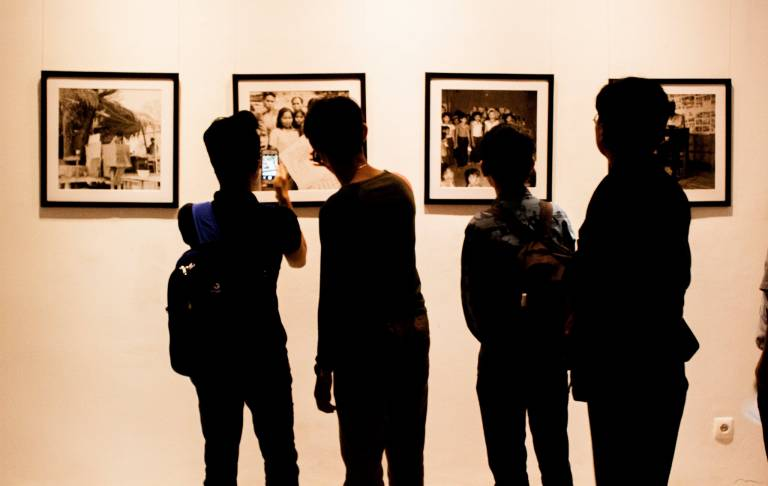 Photo exhibition, Cambodia in the 60s at Bophana Centre (Photo Phnom Penh)