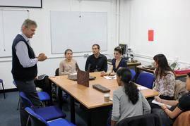 Prof. Rehren teaching