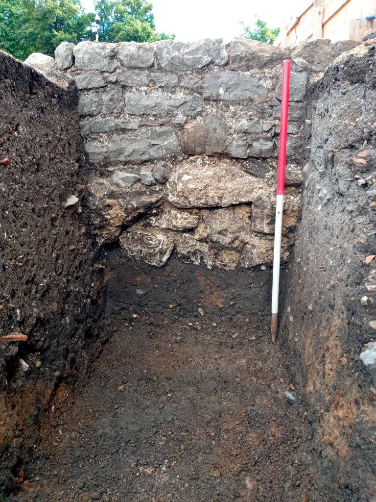 Archaeology South-East Barking Wall.1
