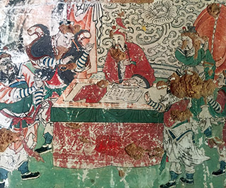 Wall painting from a temple in Shanxi province (Image copyright: UCL and Zhejiang University)