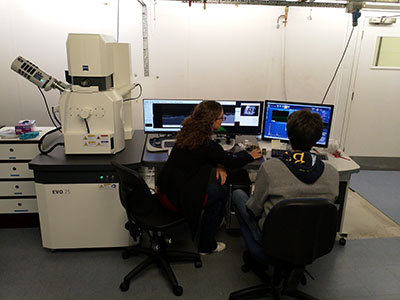 Carl Zeiss EVO 25 scanning electron microscope (SEM) at the UCL Institute of Archaeology