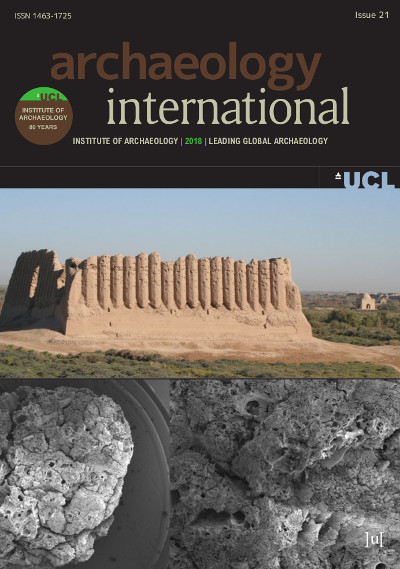 Cover of Archaeology International (2018)