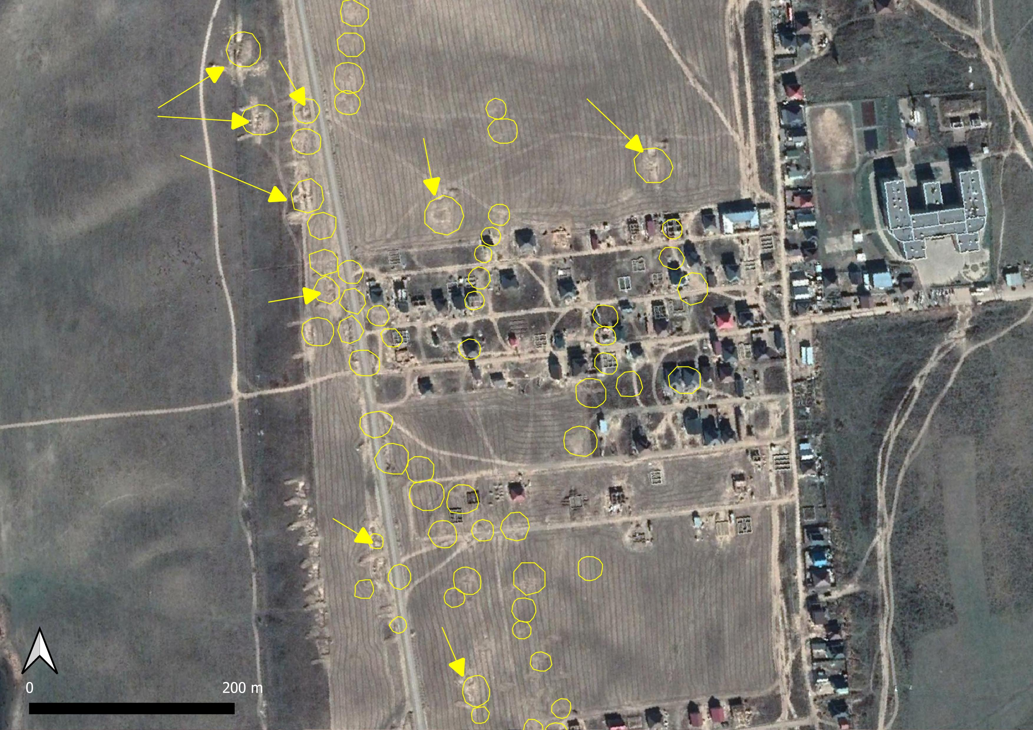 kurgans given sub-surface excavation, almaty