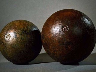 Cannonballs from the Mary Rose, Henry VIII's flagship (Image courtesy of The Mary Rose)