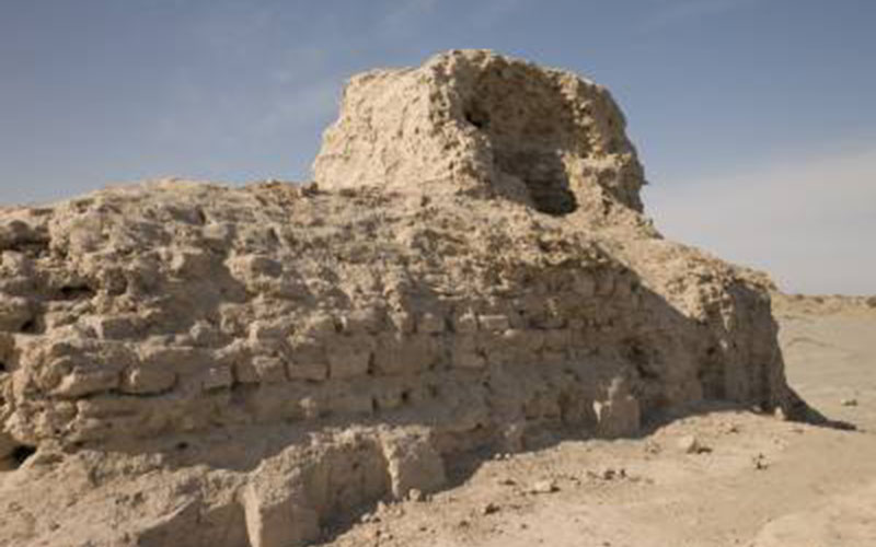 A ruined shrine at Miran photographed in 2012 (© British Library Board Photo 1125/16(149), reproduced with permission).