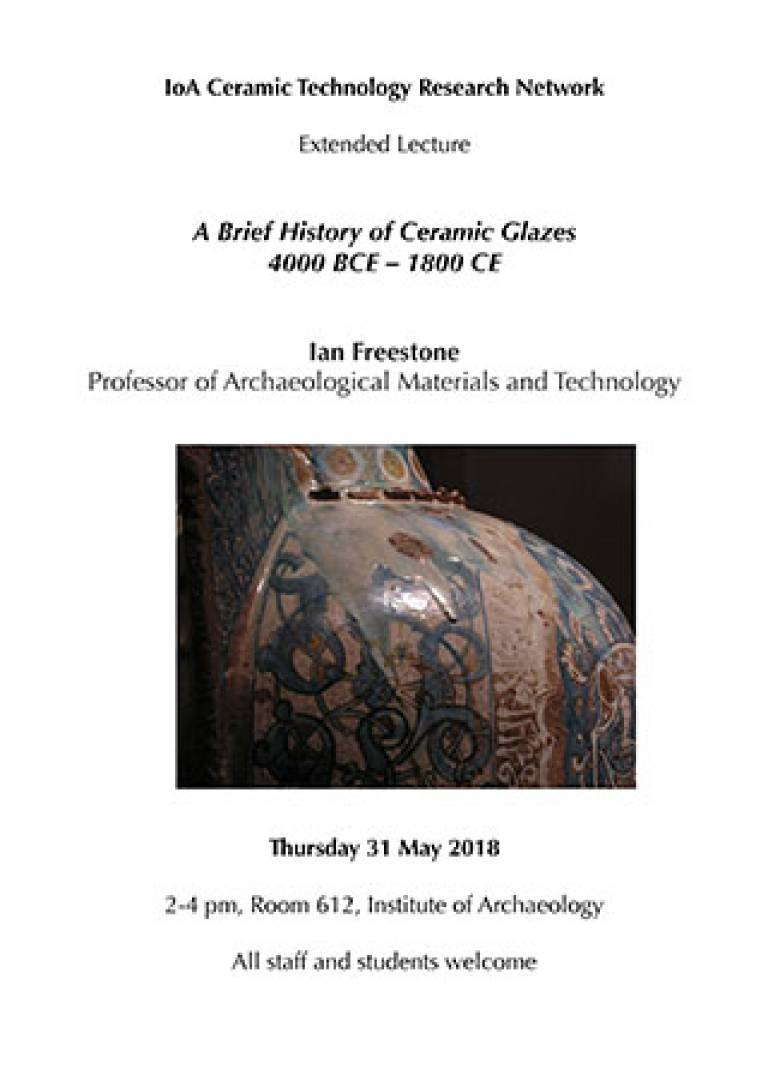 A Brief History of Ceramic Glazes, 4000 BCE – 1800 CE (extended lecture)