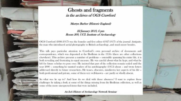 Ghosts and fragments in the archives of OGS Crawford