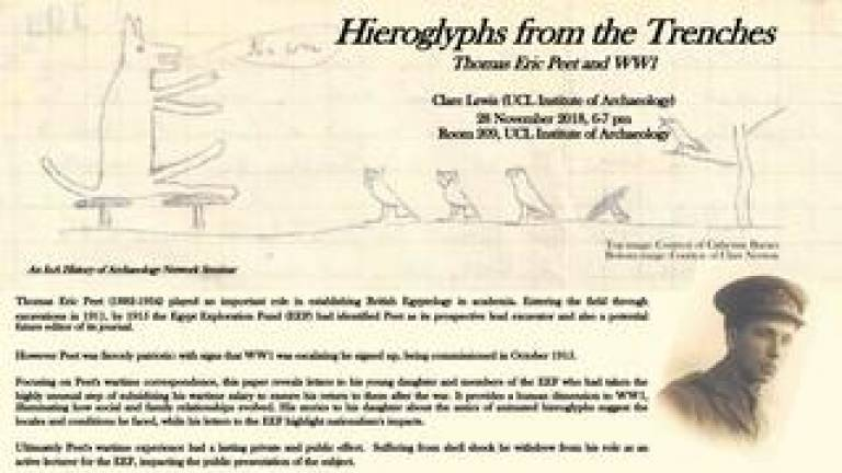 Hieroglyphs from the Trenches: Thomas Eric Peet and WW1