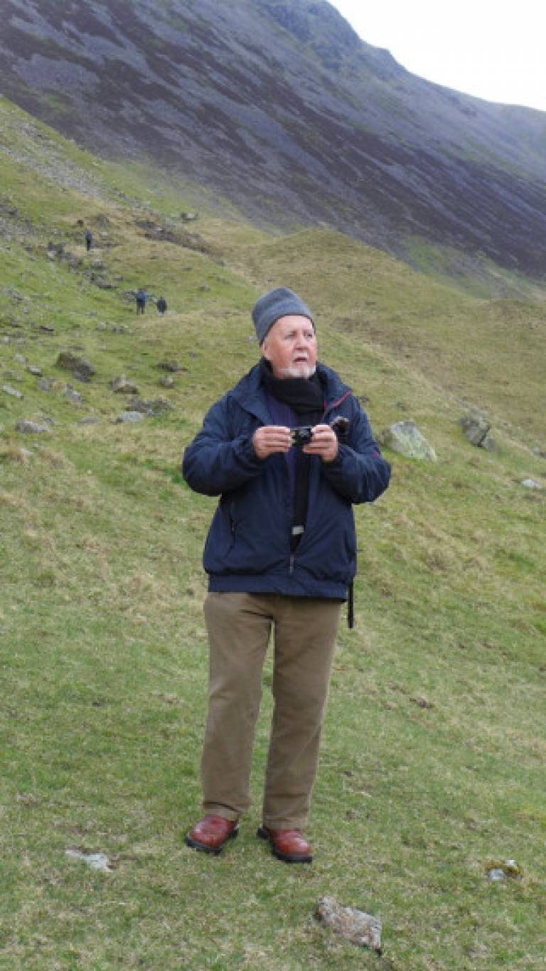 Ian Glover, Emeritus Reader of the UCL Institute of Archaeology who died on 23 April 2018 (pictured in the Lake District in 2014. Image courtesy of Cristina Castillo)
