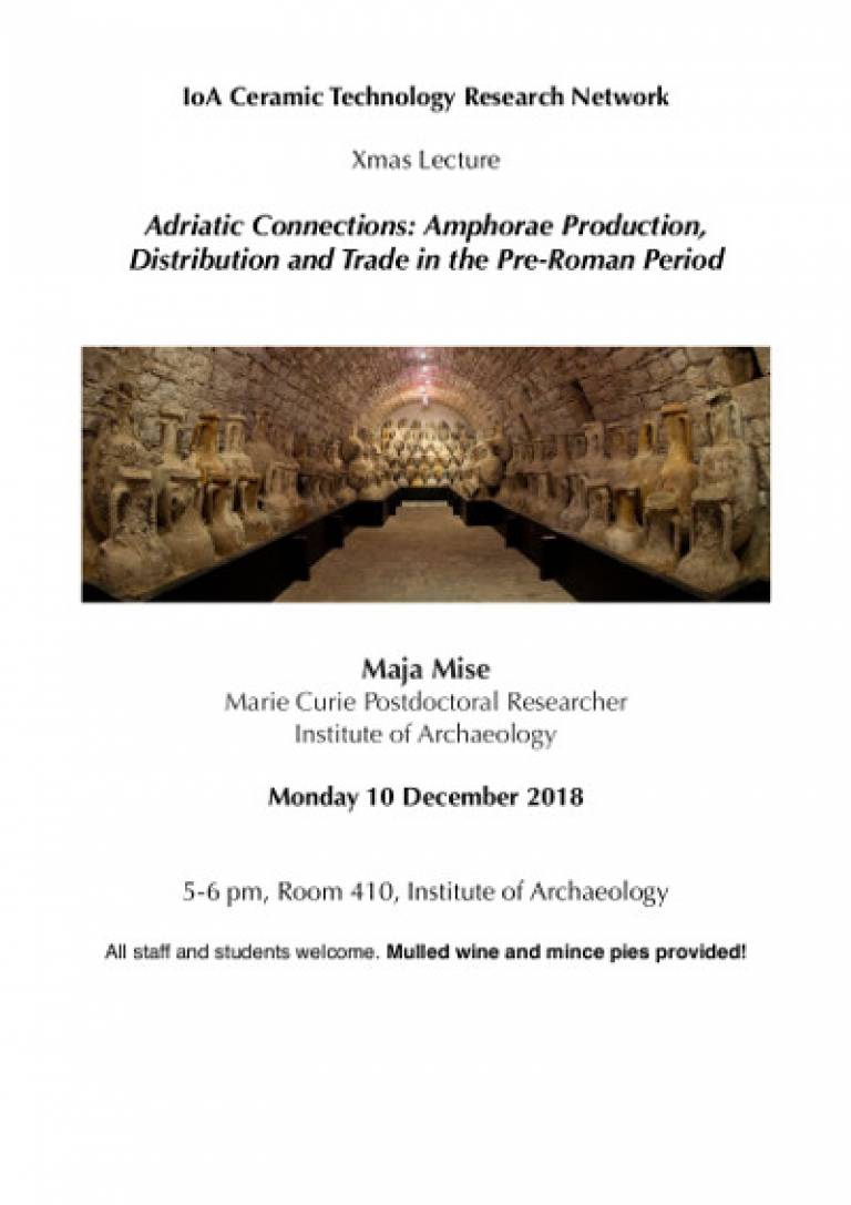Adriatic Connections: Amphorae Production, Distribution and Trade in the Pre-Roman Period