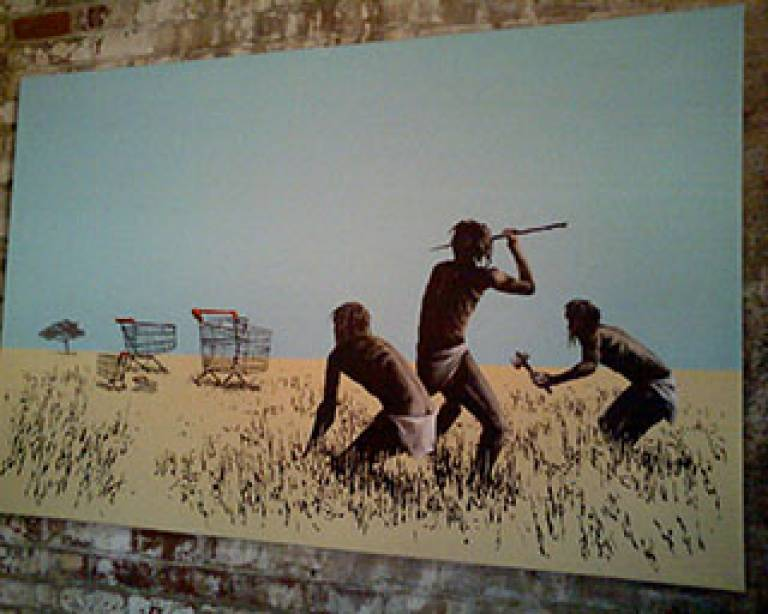 Art work by Banksy, title unknown (Source: Flickr)
