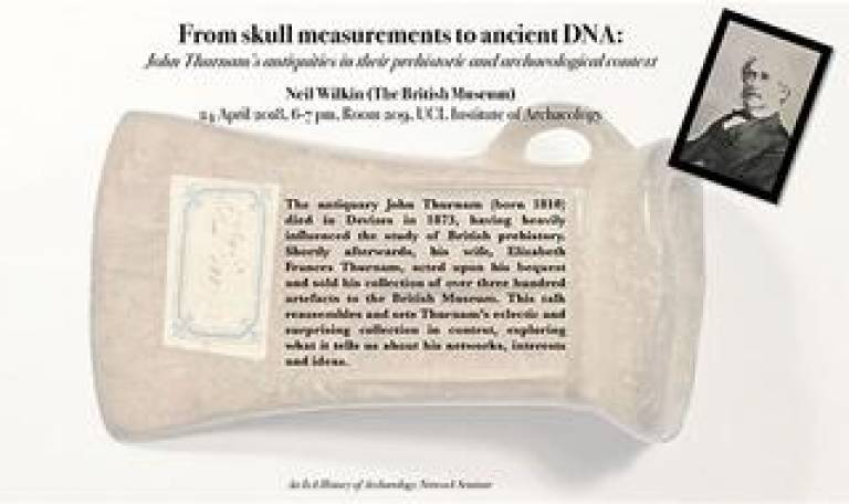 From skull measurements to ancient DNA: John Thurnam's collection of antiquities in their prehistoric and archaeological context