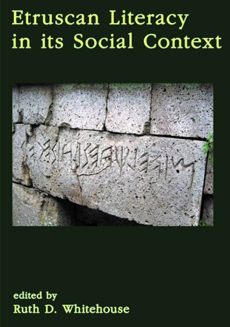 Etruscan Literacy in its Social Context (bookcover)