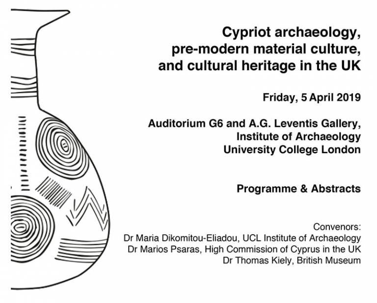 Cypriot archaeology, pre-modern material culture and cultural heritage