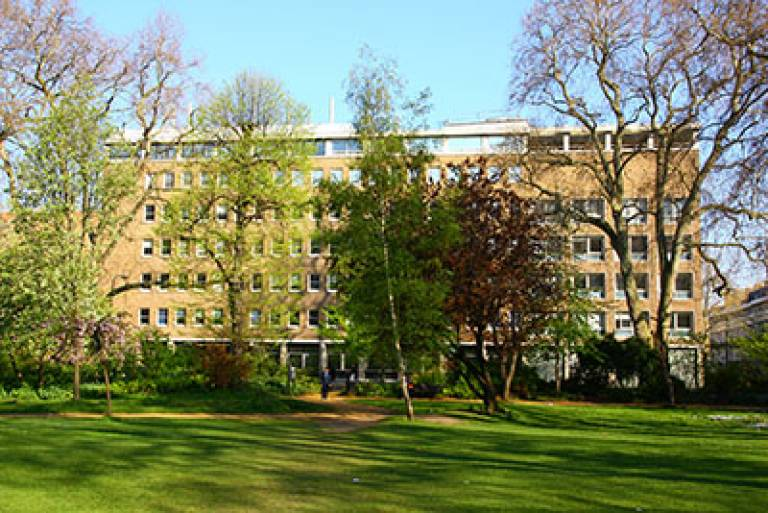 View of exterior of the UCL Institute of Archaeology, Gordon Square
