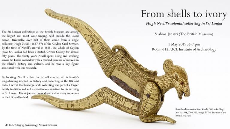 From shells to ivory: Hugh Nevill's colonial collecting in Sri Lanka