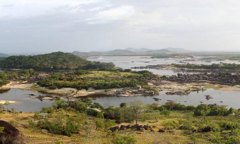 Panorama of Orinoco landscape