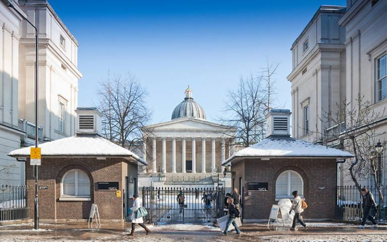 UCL main entrance, Gower Street © UCL Media Services - University College London