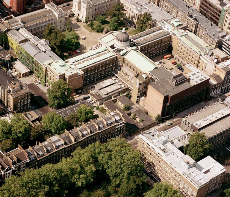 Aerial view of UCL (1990) - © UCL Media Services - University College London