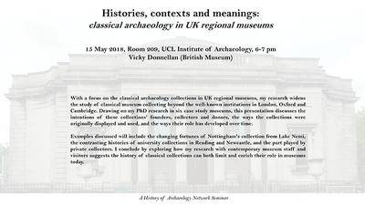 Histories, contexts and meanings: classical archaeology in UK regional museums