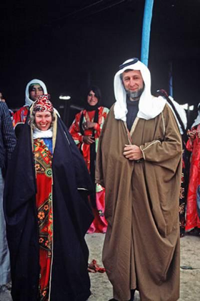 Sue Colledge and Gordon Hillman during fieldwork in Syria